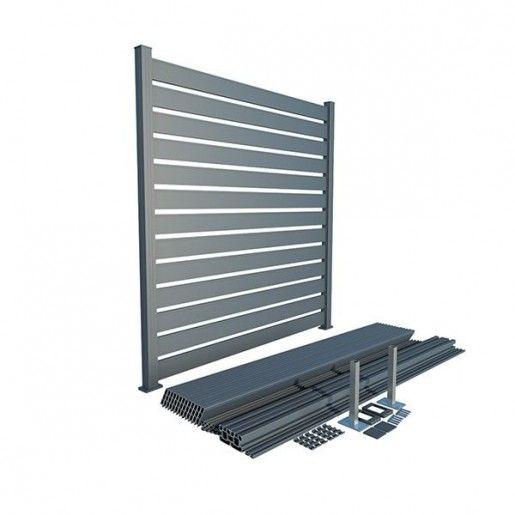Panou Gard Aluminium Modern Aerisit 200x150 cm Gri Antracit