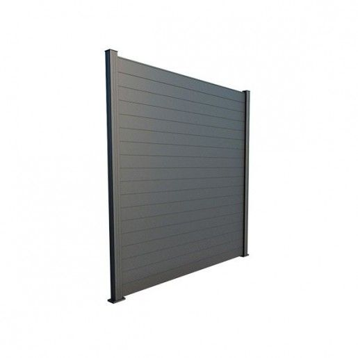 Panou Gard Aluminium Modern 250x150 cm Gri Antracit