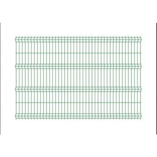 Panou bordurat pentru gard, verde 250x120x0.33 cm