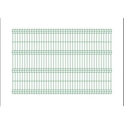 Panou bordurat pentru gard, verde  250x150x0.33 cm