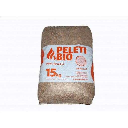 Peleti Bio 100% lemn pur, BRAD, 6 mm