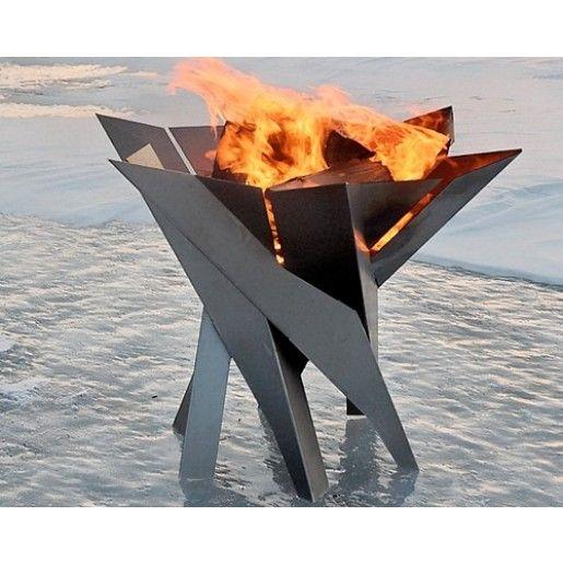 Fire Pit Phoenix Flower Otel Inoxidabil