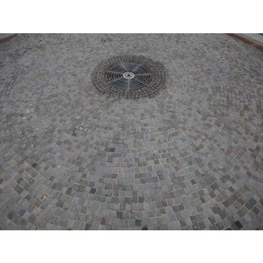 Piatra Cubica Andezit 10x10x10 cm, Gri Verzui