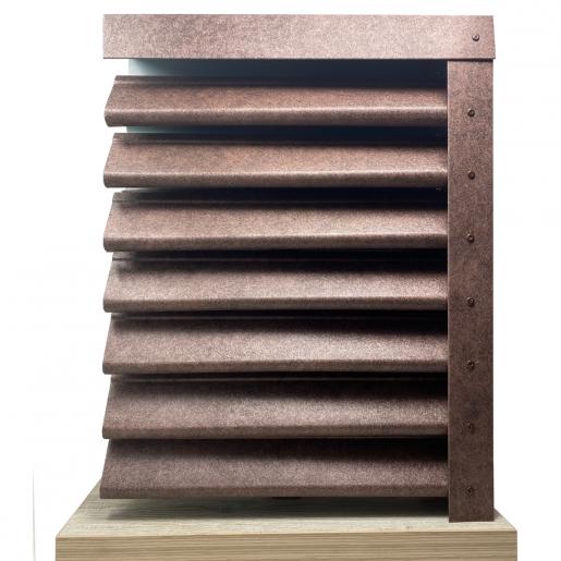 Panou gard Piramida, profil cu gauri 250x123x0.04 cm Imitatie Piatra Granit Imperial