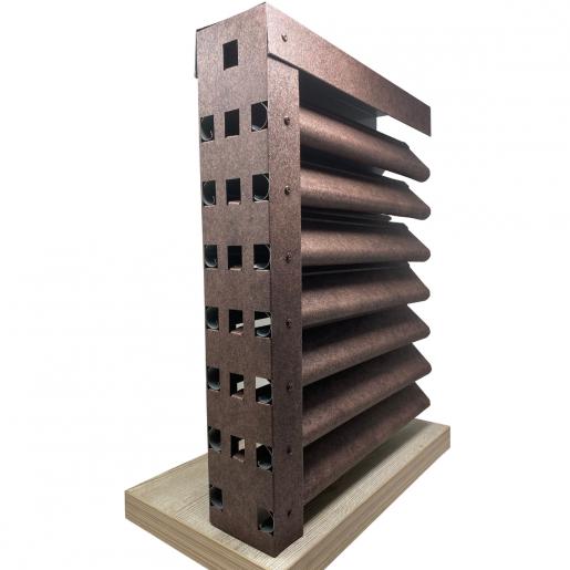 Panou gard Piramida profil cu clipse si gauri 200x123x0.04 cm Imitatie Piatra Granit Imperial