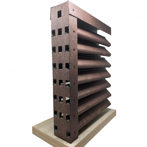 Panou gard Piramida profil cu gauri 200x123x0.04 cm Imitatie Piatra Granit Imperial