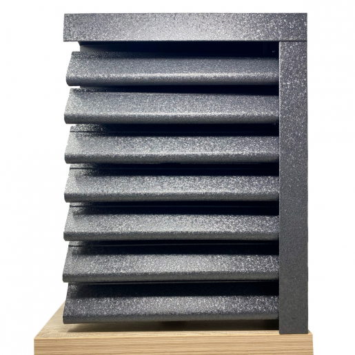 Panou gard Piramida, profil cu clipse si gauri 200x149x0.05 cm V-Mat Structurat