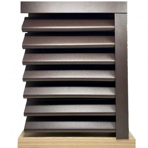 Panou gard Piramida, profil cu clipse si gauri 250x123x0.045 cm Mat BGM