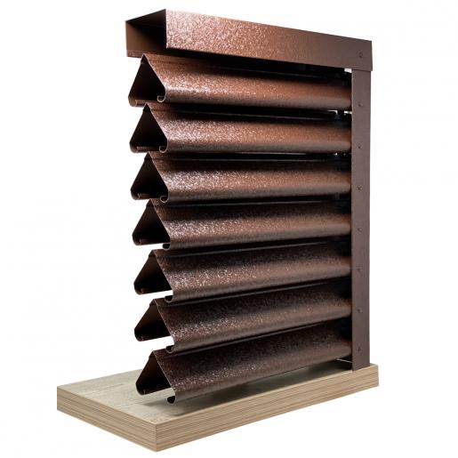 Panou gard Piramida profil cu clipse si gauri 200x123x0.05 cm V-Mat Structurat
