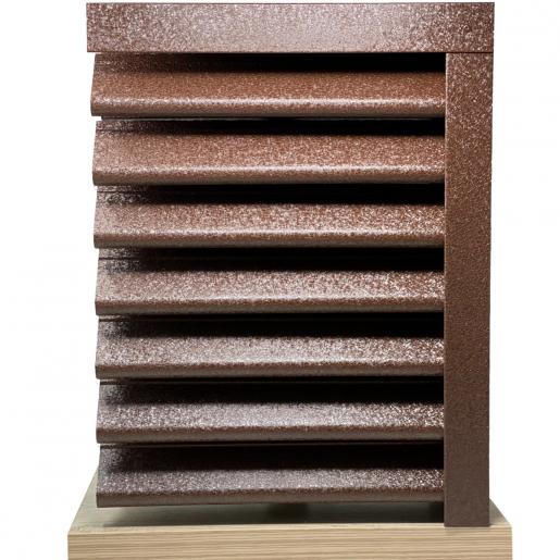Panou gard Piramida, profil cu clipse si gauri 250x149x0.05 cm V-Mat Structurat