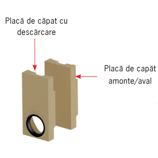 Placa frontala de capat Monoblock RD 200 cu garnitura