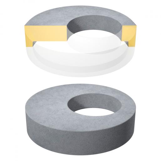 Placa de acoperire si reductie pentru camine D 104 di 62.5 H 15 cm