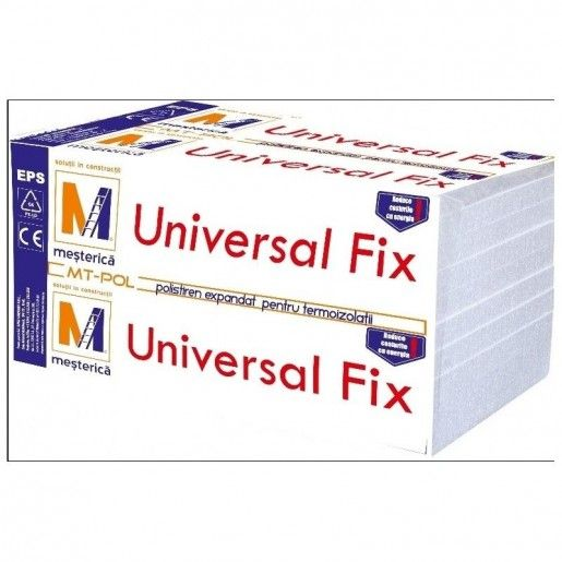 Polistiren expandat Mesterica Universal Fix EPS 80, 100x50x8 cm