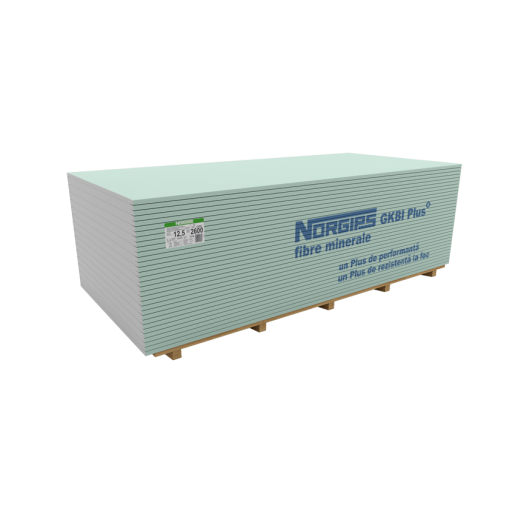 Placa gips-carton GKBI Plus, 260x120x1.25 cm