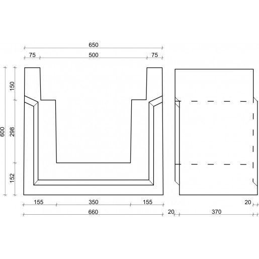 Rigola carosabila 37x65/66x60 cm