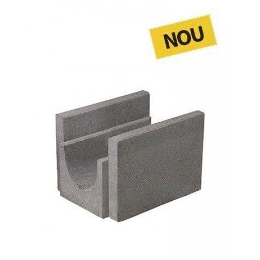 R11 Rigola Pietonala 33x28.5x25 cm, Gri Ciment