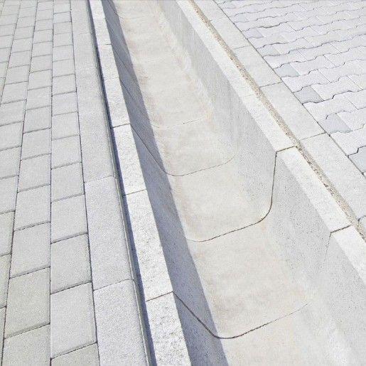 R8 Sant Trapezoidal Prefabricat Din Beton 50x66(sus)x51.2(jos)x35 cm, Gri Ciment