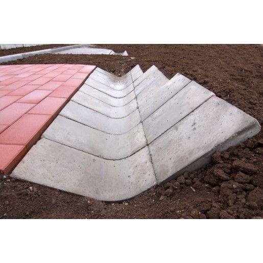 R6 Sant Triunghiular Prefabricat Din Beton 33x60x10 cm, Ciment