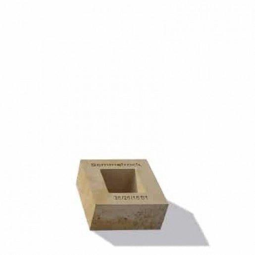 Element Zid Gard Jumatate Bellamonte 20x20x10 cm, Ocru Auriu