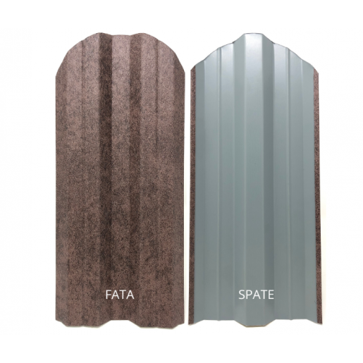 Set 25 buc/3 ml Sipca Metalica Gard Imitatie Piatra Antracit 0.40 mm