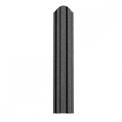 Sipca Metalica Gard finisaj grande mat Negru 0.5 mm