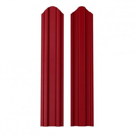 Sipca Metalica Gard finisaj lucios dublu Rosu 0.6 mm