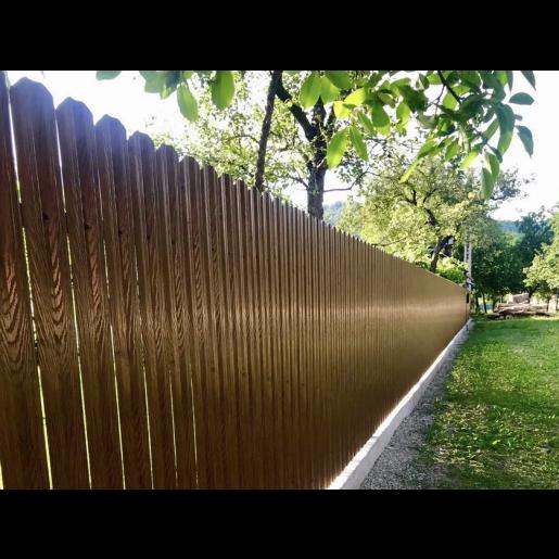 Set 25 buc/ 3 ml Sipca Metalica Gard Imitatie Lemn Dublu Nuc Striat 0.50 mm