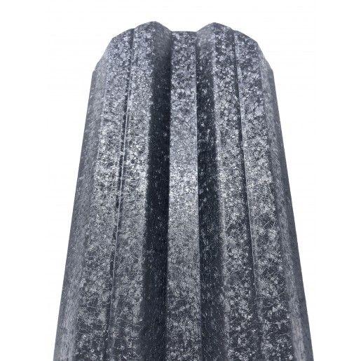 Set 25 buc Sipca Metalica Orizontala Gard V-Mat Structurat Gri 0.50 mm