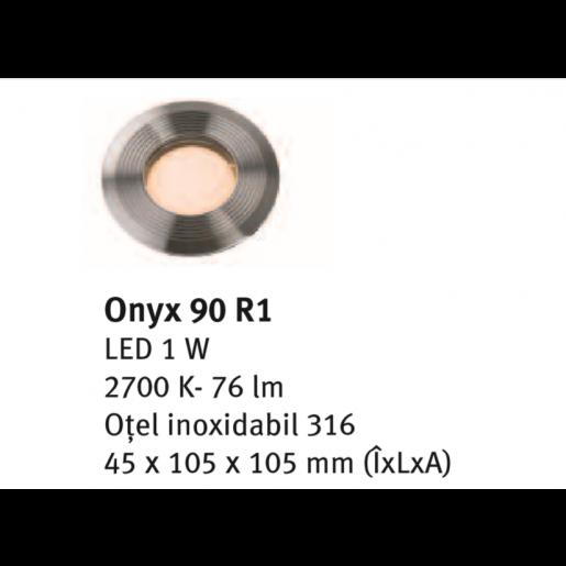 Spot incastrabil Onyx 90 R1 4.5x10.5x10.5 cm