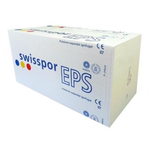 Polistiren expandat Swisspor EPS 100, 100x50x5 cm