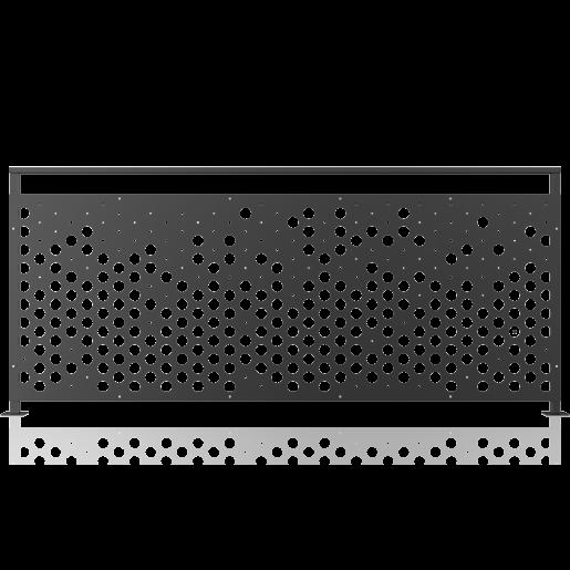 Balustrada metalica panou decorativ model 29, 200x90 cm