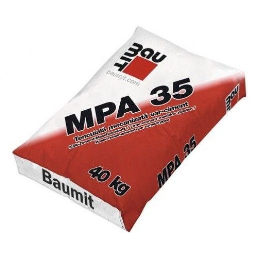 Tencuiala aplicare manuala/mecanizata MPA 35, interior/exterior, 40 kg