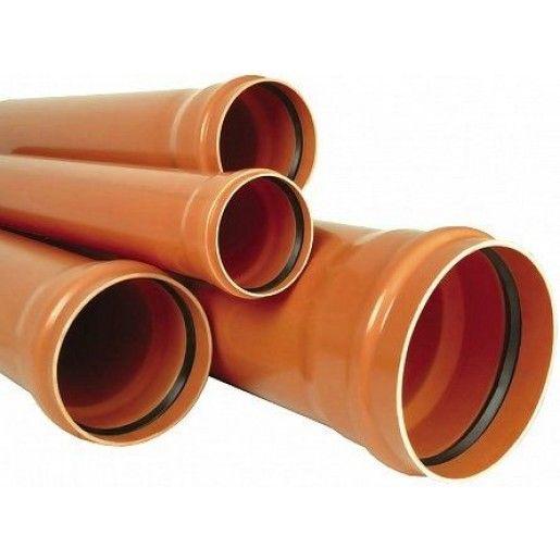 Teava PVC pentru canalizare exterioara, multistrat, SN4, DN125, mufa inel L=100 cm