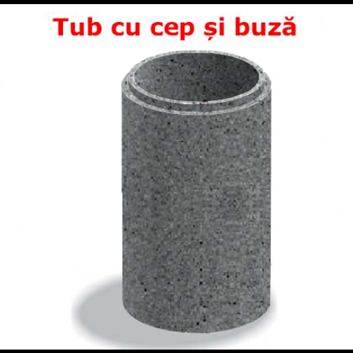 Tub cu cep si buza D 114 di 100 g 7 L 103 cm