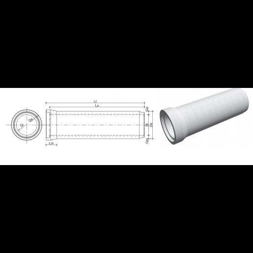 Tub cu mufa din beton armat D 80 di 60 g 10 L 239 cm