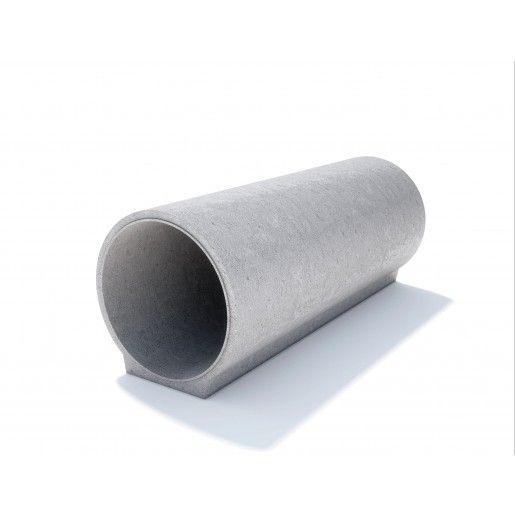 Tub cu talpa, cu cep si buza din beton simplu D 49 di 40 g 4.5 L 100 cm