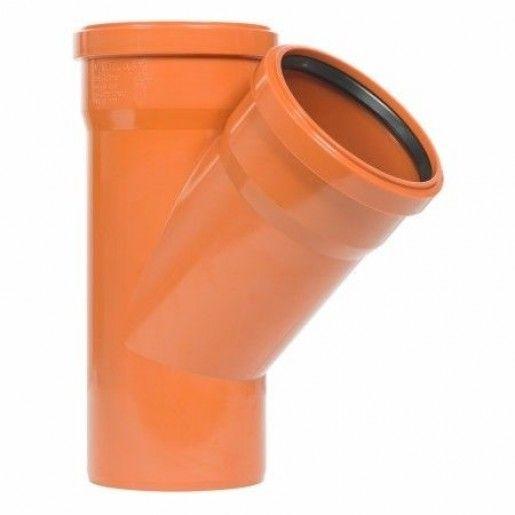 Ramificatii canal PVC, unghi 45 grade DN12.5x12.5 cm