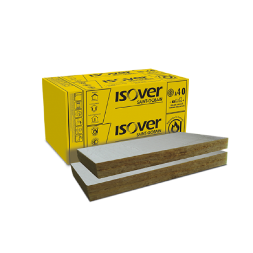 Vata minerala bazaltica Isover PLE PLUS cu aluminiu ALU, 100x60x10 cm