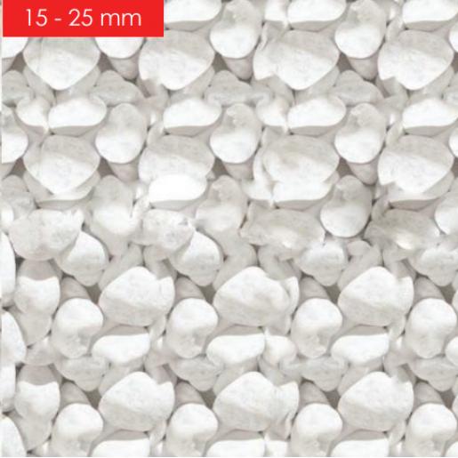 Via Stone 25 kg, Bianco 15-25 mm