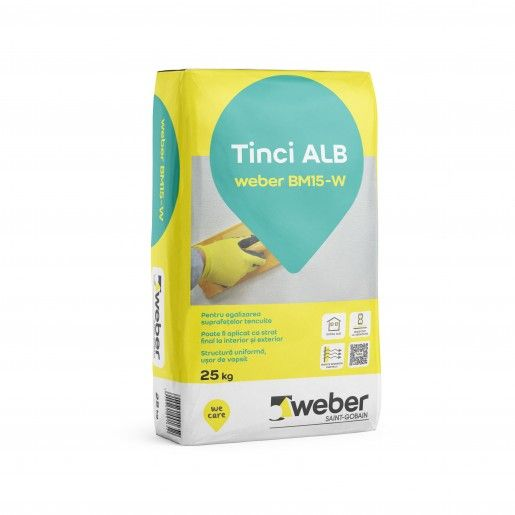 Tinci alb Weber BM15-W, 25 kg