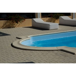 Bordura Piscina Roma 30 Element Colt Exterior 90°