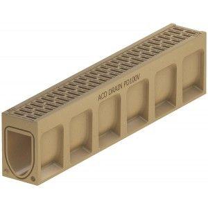 Element de rigola Monoblock PD 100 fara panta prefabricata 100x15x23 cm