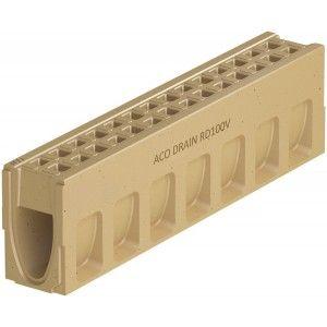 Element de rigola Monoblock RD 100 fara panta prefabricata 100x16x26.5 cm