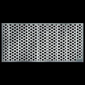 Gratar plasa curte lumina din otel zincat, 40x100 cm