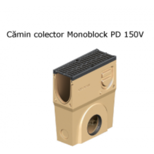 Camin colector Monoblock PD 150 din beton cu polimeri, cu gratar si muchii din fonta 50x20x59.5 cm
