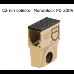 Camin colector Monoblock PD 200 din beton cu polimeri, cu gratar si muchii din fonta 50x25x64.5 cm
