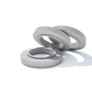 Rama circulara fonta+beton armat D 86.5 di 77.9 H 20 H1 16 H2 4 h 0.5 cm