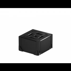 Element de colt din polipropilena, Negru