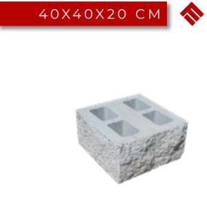 Stalp Gard Splitat Dublu, 40x40x20 cm