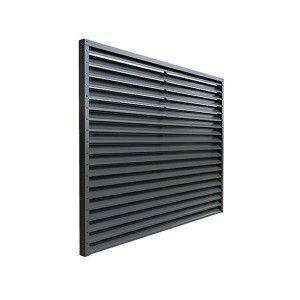 Panou Gard Aluminium Modern tip Jaluzea 200x200 cm Gri Antracit